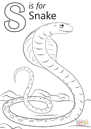 Small Picture Coloring Pages Letter S Is For Snake Coloring Page Free Printable