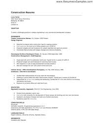 Construction Job Resume Fascinating Construction Jobs Resume Project Management For R Ulann Gibbs