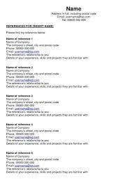 job reference job reference page sample