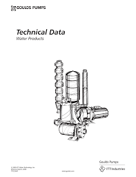 Goulds Well Pump Sizing Chart Technical Data