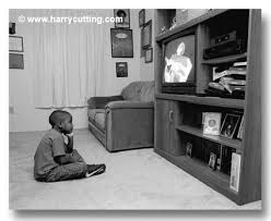 black kids watching tv. black african american child kid watching tv television - minority children j186-07 photo, image, picture kids d