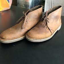 2 chukka boots beeswax brown clarks bushacre leather