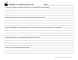 best the outsiders images beds the outsiders  common core ela worksheet