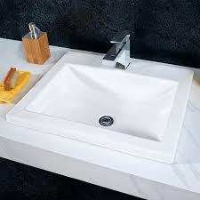 white drop in sink bathroom sinks studio drop in sink white white cast iron drop in white drop in sink