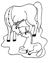 Print Eenhoorn Kleurplaat 2 Color Cute Unicorn Coloring Pages
