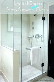 keep glass shower doors clean rain x shower door if you love a glass shower but