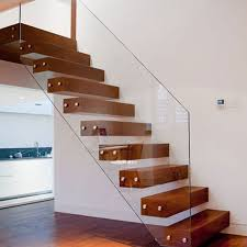 Floating Stair Solid Wood Treads Floating Stair Glass Balustrades and Wood  Treads Floating Staircase PR-