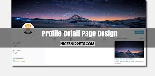 User Profile Design In Bootstrap User Profile Detail Page Design With Bootstrap 4