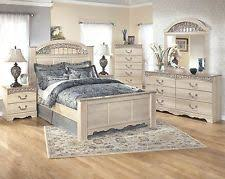 Lovely Ashley Catalina Queen 6 Piece Bed Set W/Faux Marble Top Furniture B196
