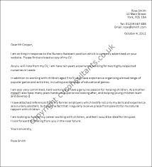 Writing A Good Cover Letter Nursery Assistant Cover Letter Example
