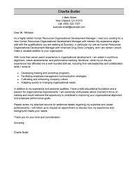 Outstanding Organizational Development Cover Letter Examples