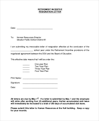 resignation retirement letter example resignation retirement letter