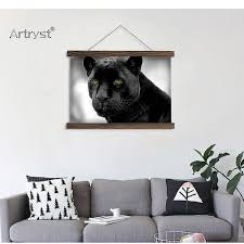 artryst hanging canvas painting black panther animal hd pictures wall art for living room decoration free shipping scp 258 in painting calligraphy from  on black panther animal wall art with artryst hanging canvas painting black panther animal hd pictures