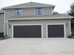 the garage doors are already dark and could work in place of a true black
