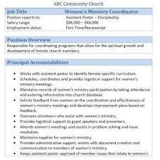 45 free downloadable sample church job descriptions copywriter job description