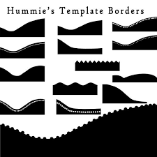Digital Scrapbooking Border Templates Commercial Use And Etsy
