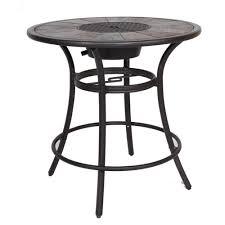 l round aluminum bar table