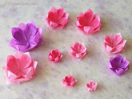 Paper Lotus Flower How To Fold An Origami Lotus Flower And Use It To Decorate A