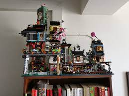 Ninjago City + Docks - I prefer the alternative placement of the Docks  because it adds depth and variety to the profile.: lego