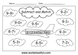 Kindergarten Fun Subtraction 4 Worksheets | Printable Worksheets ...