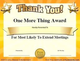 Most Likely To Award Template Award Certificate Samples Title Ideas For Employees