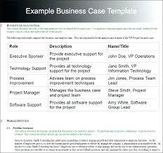 Simple Business Case Templates Simple Business Case Template Presenting A Business Case Template