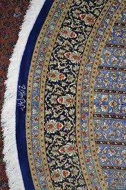round qum pure silk silk persian rug item pa 1221