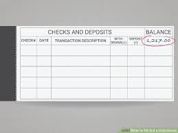 How To Fill Out A Checkbook 10 Steps With Pictures Wikihow
