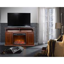 décor flame luciano 56 a fireplace for tvs up to 65 chestnut
