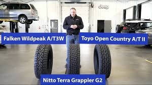 Toyo Tire Rating Chart At Tire Comparison Nitto Terra Grappler G2 Vs Toyo Open Country Atii Vs Falken Wildpeak At3w