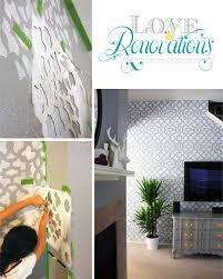 Zamira stencil feature wall blog post