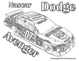 coloring-pages-nascar-dodge-avenger-disney-696057 Â« Coloring Pages ...