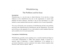 whistleblowing the problems and the issue a level psychology  document image preview
