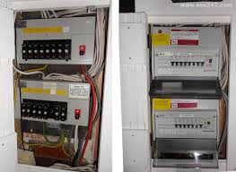 eec247 consumer units and fuseboxes installed to the latest iee  replace two fuseboxes with consumer units and fix various faults