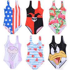 2019 New Women Swimwear <b>Cute Cartoon Mickey</b> Donald Duck ...