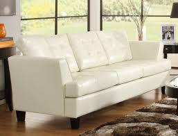 Homelegance Della All Bonded Leather Sofa Set White UWHT - All leather sofa sets