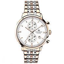 accurist watches men s ladies accurist watches h samuel accurist men s chronograph 2 colour steel bracelet watch product number 4575210