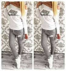 nike outfits. #pants #shirt #nike stylish women\u0027s gray and milky sweatsuit nike outfits