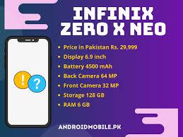 Infinix Zero X Neo 2021 Price In Pakistan