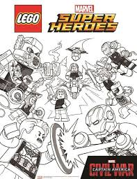 Coloring Page Lego Marvel Avengers Avengers Civil War 2 On Kids N