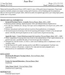 Sample Resume For Lpn Licensed Practical Nurse Resume Sample ...