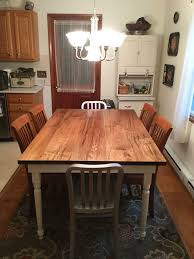 My Husband Made Our New Kitchen Table From Wormy Maple Legs