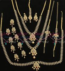 full bridal jewellery set traditional south indian latest