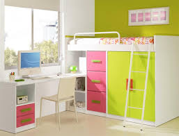 loft bunk bed with desk color