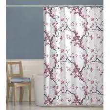 cherrywood cherry blossom fabric shower curtain