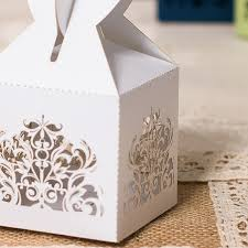 ... white heart laser cut wedding favor boxes EWFB110-2