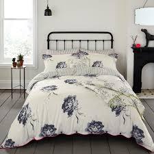buy joules monochrome regency floral duvet cover  amara