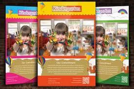 Kindergarten Flyer With 3 Layouts ~ Flyer Templates ~ Creative Market