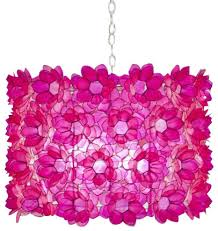 worlds away rosette pink capiz shell fl chandelier