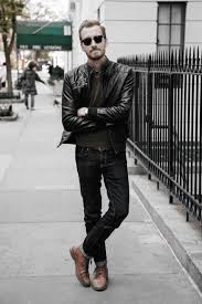cool unique how to wear a leather jacket leather jacket outfits styles for men